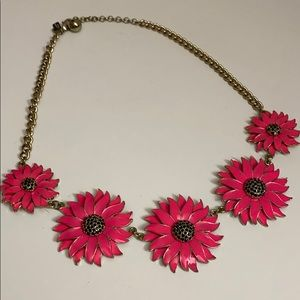 Kate spade pink flower chain necklace